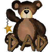 Camping Freebies Picture Helpers - Bear with Dad