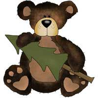 Camping Freebies Picture Helpers - Bear with Tree
