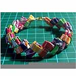 Camping Crafts - Bracelet From Candy Wrappers