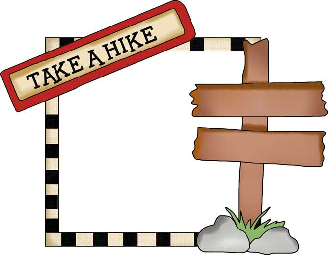 Hiking Clip Art Picture Frame Campingfreebies Com