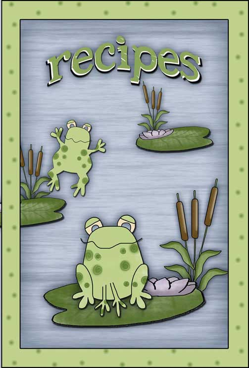Ribbit Recipe Card Cover