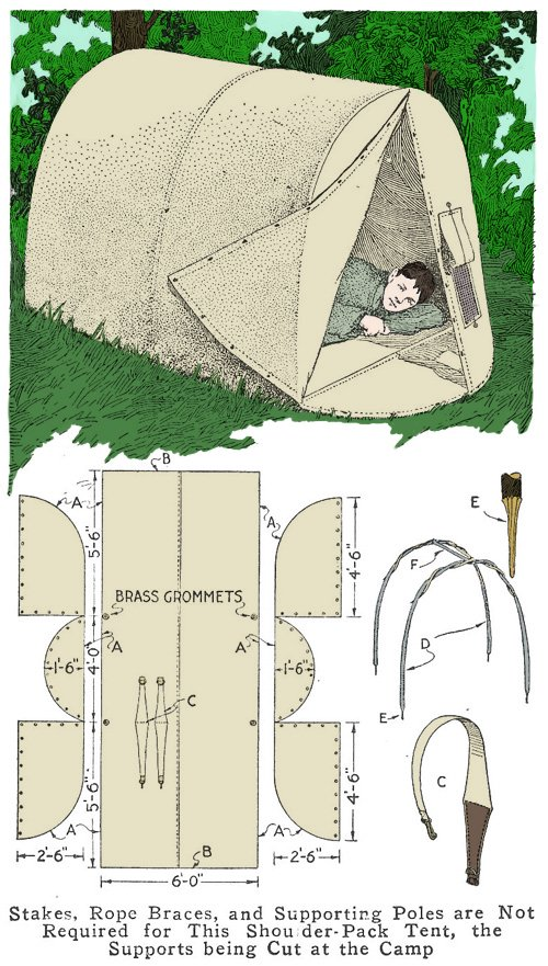 Make A Homemade Shoulder Pack Tent